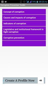 Corruption Prevention ToolKit apk screenshot