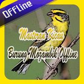 Masteran Kicau Burung Mozambik Offline icon