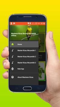 Masteran Kicau Burung Mozambik Offline poster