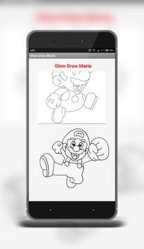 Glow Draw Mario poster