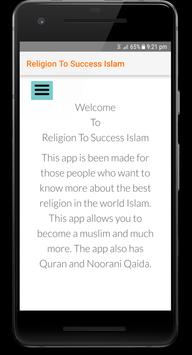 Reigion To Success Islam poster