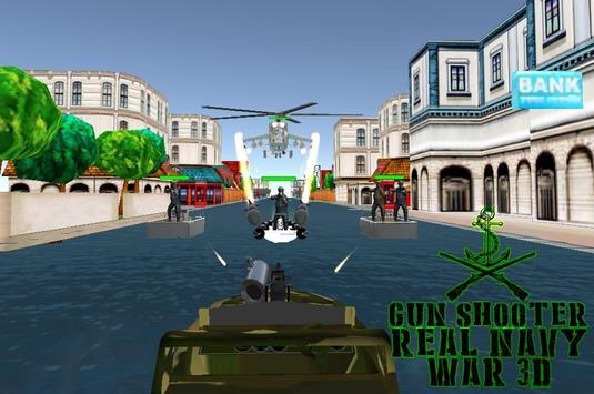 Gun shooter ; real navy war 3D poster