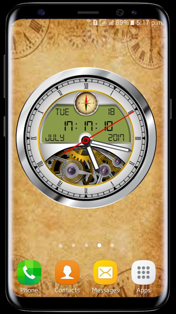 Analog Clock Live Wallpaper 2018 3d Clock Widget For Android