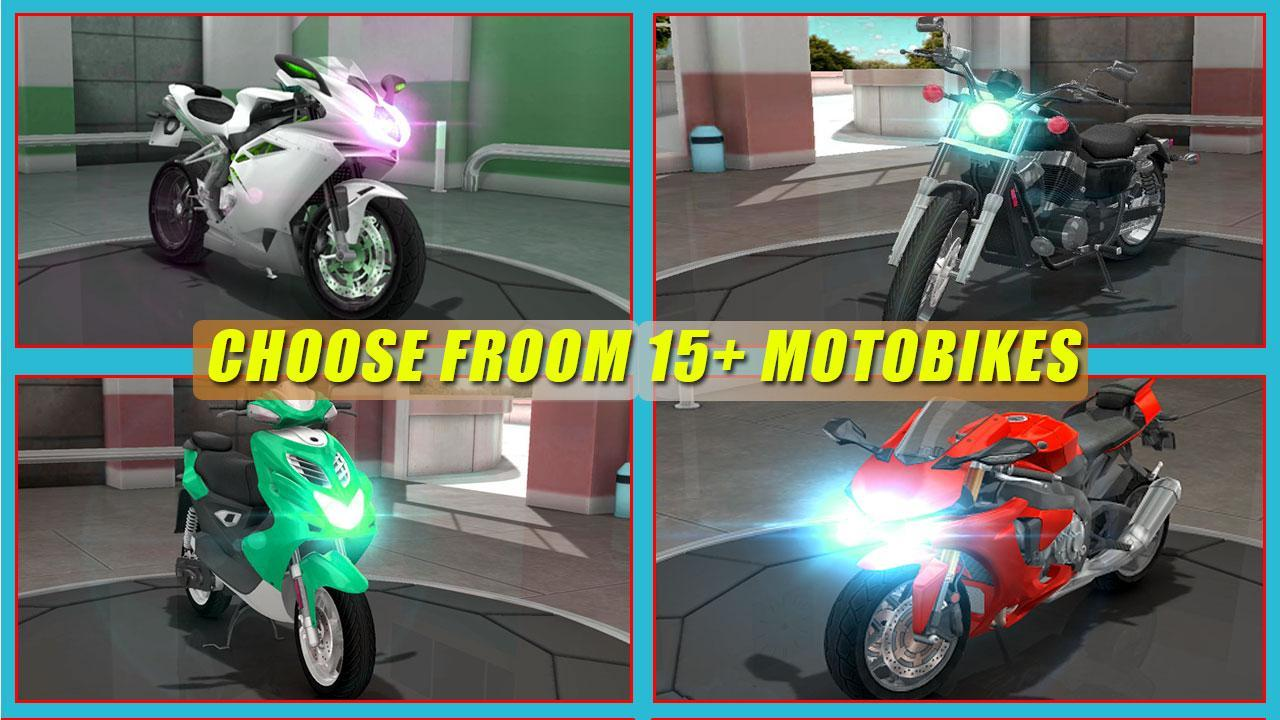 Motorcycle racing game 3d: road rash bike rider for android apk.