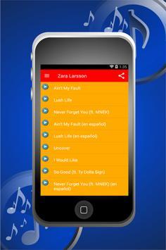 Zara Larsson All New Songs apk screenshot