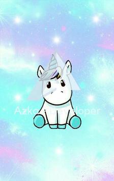 Cute Unicorn Wallpaper HD plakat