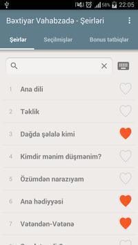 Bəxtiyar Vahabzadə - Şeirləri apk screenshot