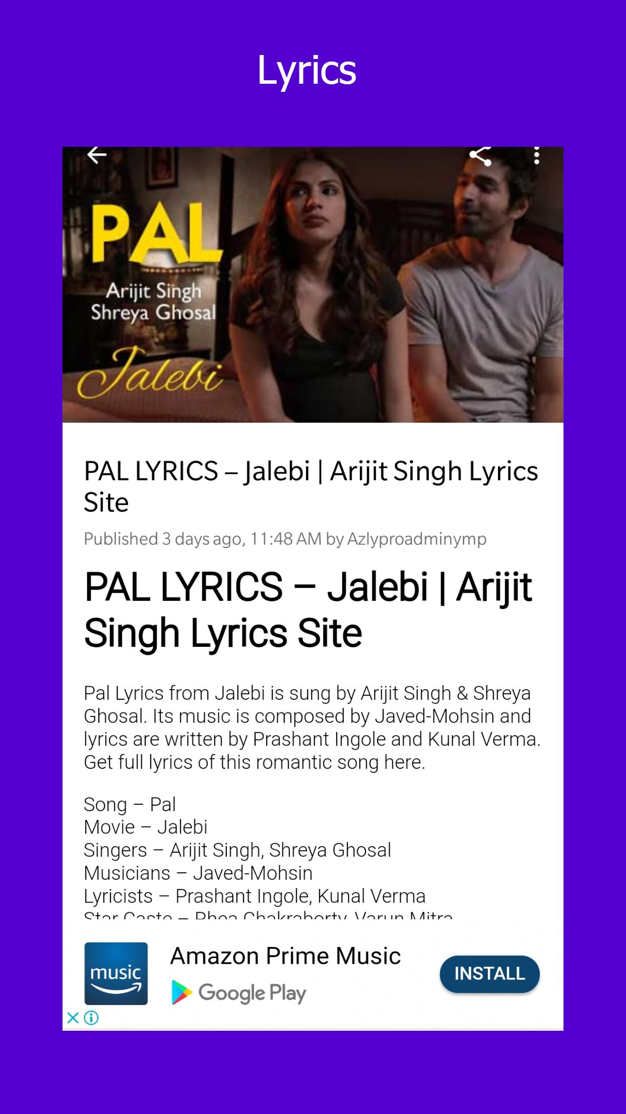 Lyrics Hindi Punjabi English Song Azlyricspro For Android Apk Download All copyright belong to the chainsmokers and halsey best lyrics ever written,best lyrics songs,best lyrics songs english,best lyrics 2015,best lyrics ever. lyrics hindi punjabi english song