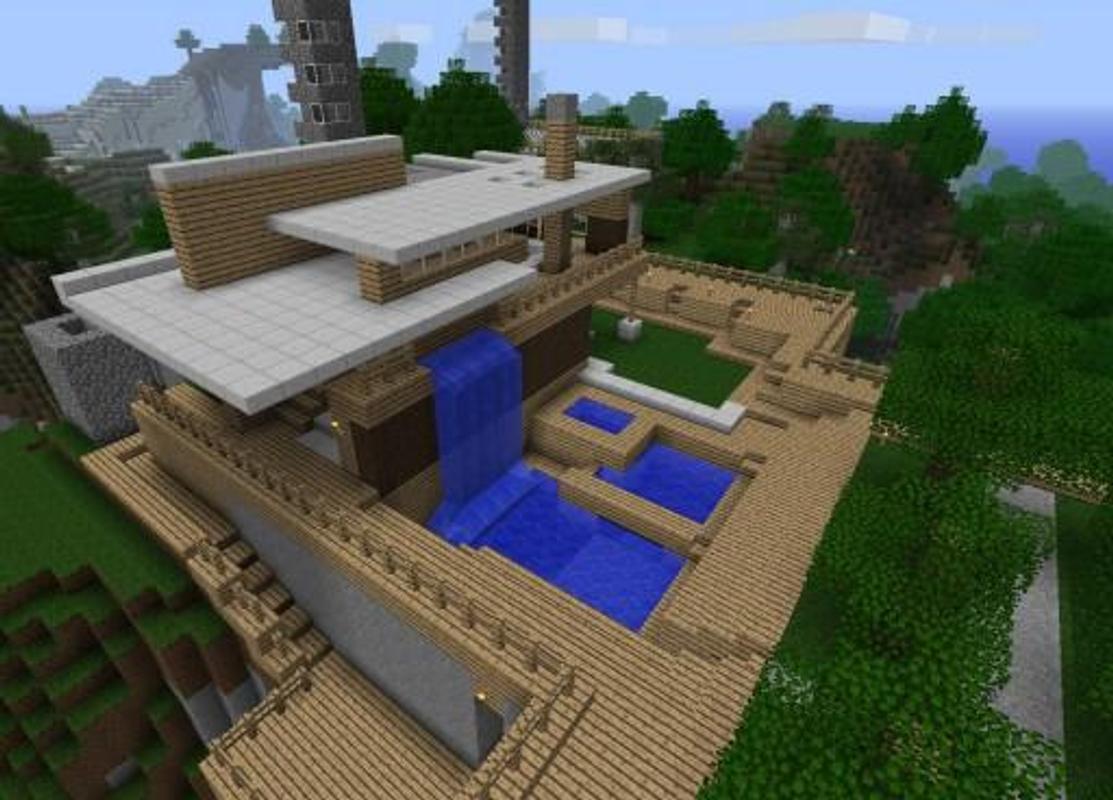 Casa moderna para minecraft pe descarga apk gratis arte for Casas modernas minecraft 0 9 5