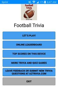 Football Trivia poster