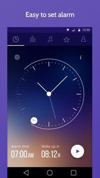 睡眠時間 : 睡眠サイクルスマートアラームクロック、監視分析 ポスター