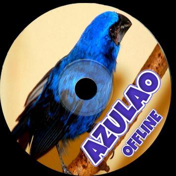 Canto do Azulão (Cyanocompsa Brissonii) poster
