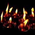 flashlight and candlelight