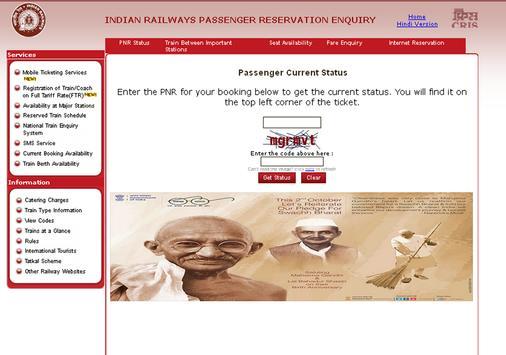 Indian Railway Train Enquiry screenshot 1