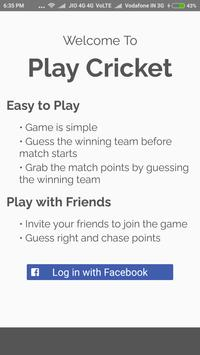Play Cricket apk screenshot