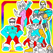 Coloring For injustice heros icon