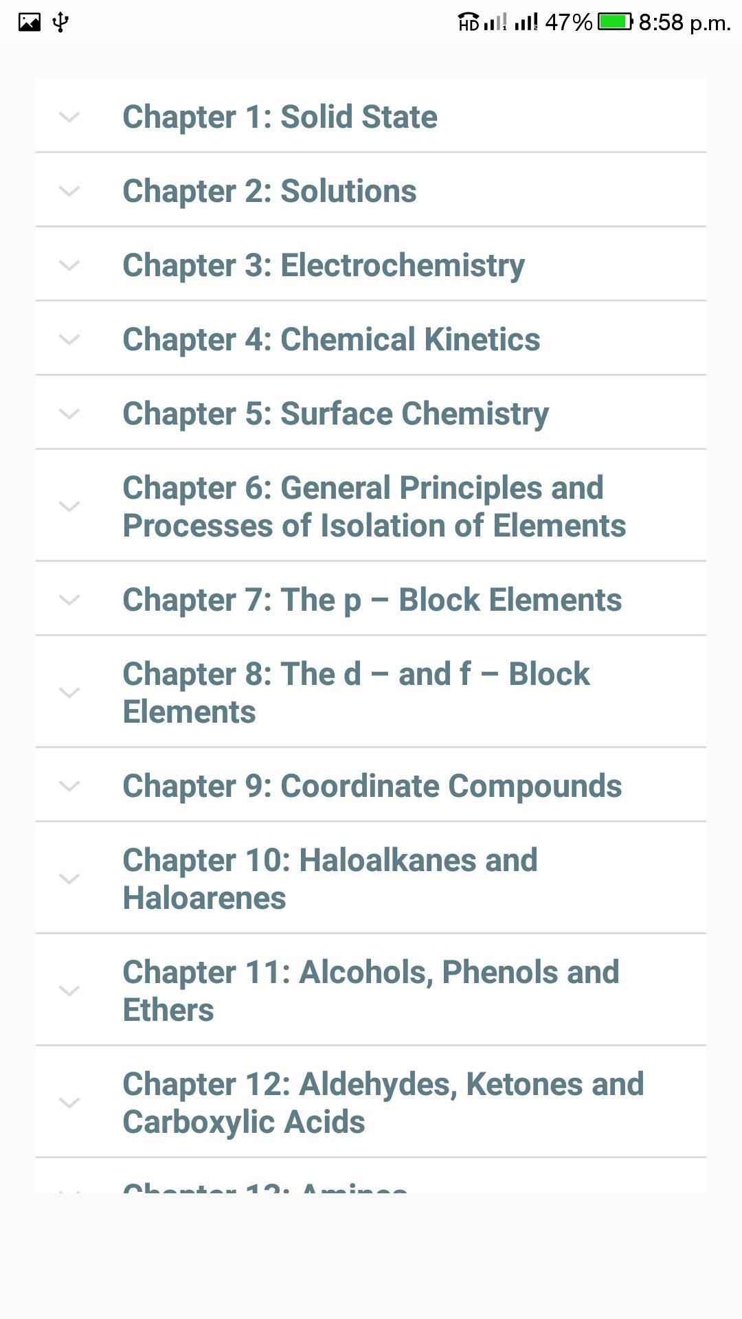 Class 12 Chemistry NCERT Solutions for Android - APK Download