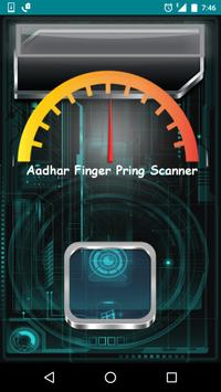 Aadhar finger print scan prank poster