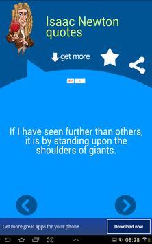 Isaac Newton Quotes apk screenshot