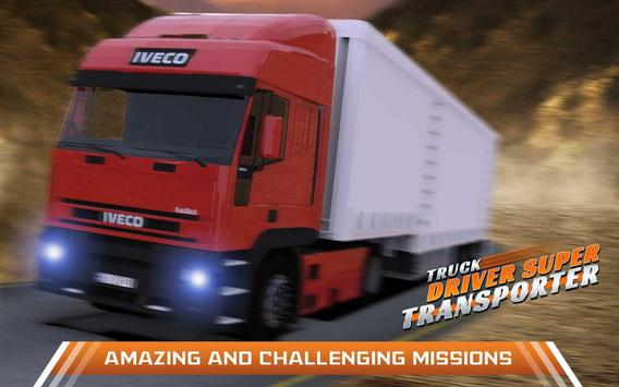 Truck Driver Super Transporter poster
