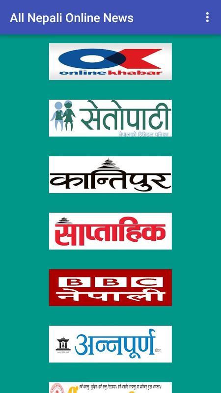 Nepali Online News Poster