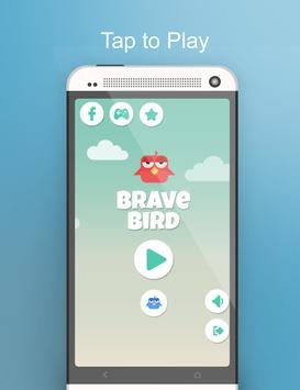 Brave Angry Bird poster