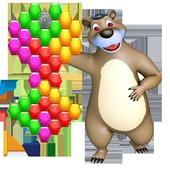 Beehive Bear: Honeycomb Hex Puzzle icon