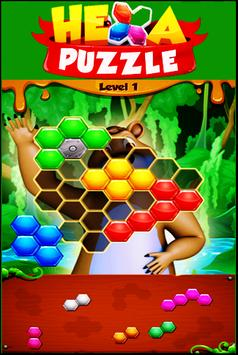Beehive Bear: Honeycomb Hex Puzzle poster