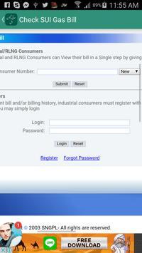 Sui gas bill checker apk screenshot