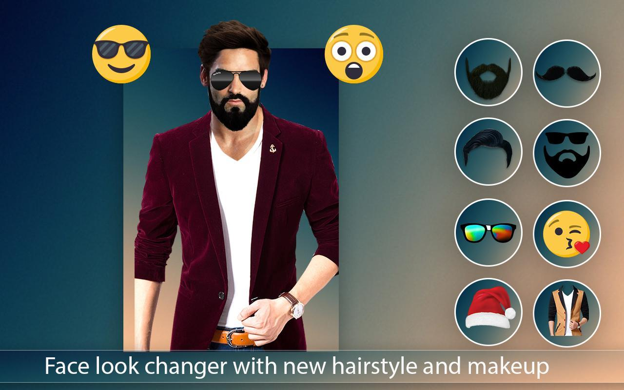 Face changer man suit photo editor 2018 stickers apk screenshot