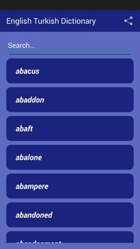 English Turkish Dictionary poster