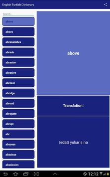 English Turkish Dictionary screenshot 4