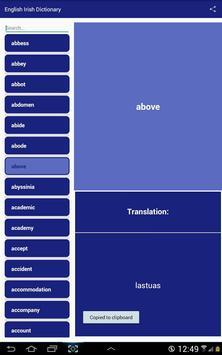 English Irish Dictionary screenshot 4