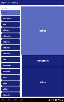 English Latin Dictionary screenshot 2