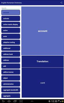 English Romanian Dictionary apk screenshot