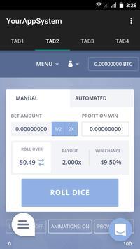 Bitcoin Casino Dice apk screenshot