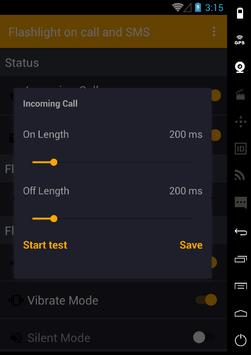 Flash on Call and SmS 2017 apk screenshot