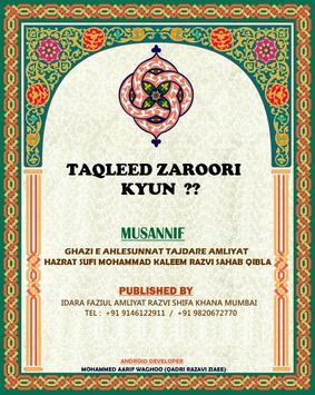 TAQLEED ZAROORI KYUN ? poster