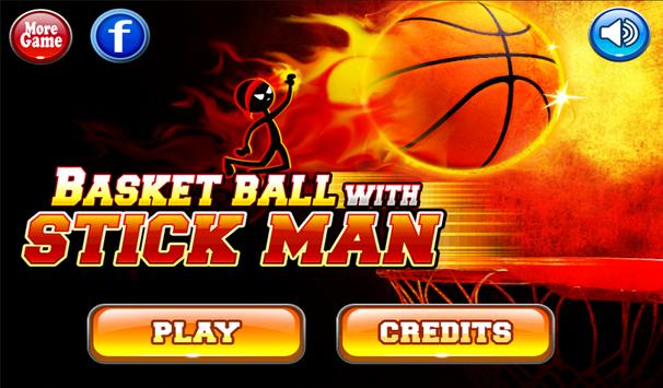 Basketball with Stickman poster