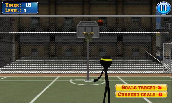 Basketball with Stickman apk screenshot