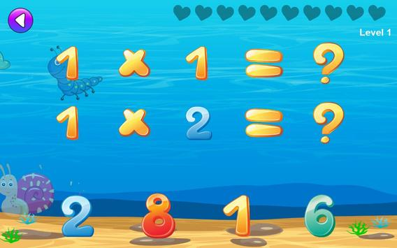 Math games for kids : times tables training screenshot 12