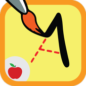 Teaching letters toddlers game icon