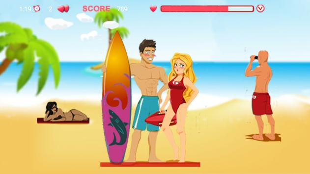 Kiss on the Hawaii beach apk screenshot