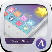 Dream Girl theme-ABC Launcher icon