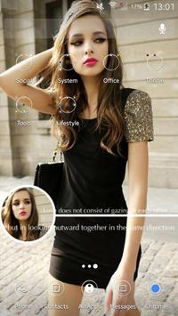 Hot girl theme apk screenshot