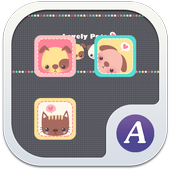Lovely pets theme ABC launcher icon