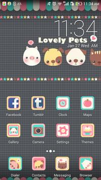 Lovely pets theme ABC launcher poster