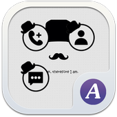 Gentleman mustache theme-ABC icon