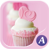 Pink cupcake theme-abclauncher icon