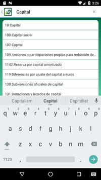 4 Schermata Cuentas Plan General Contable